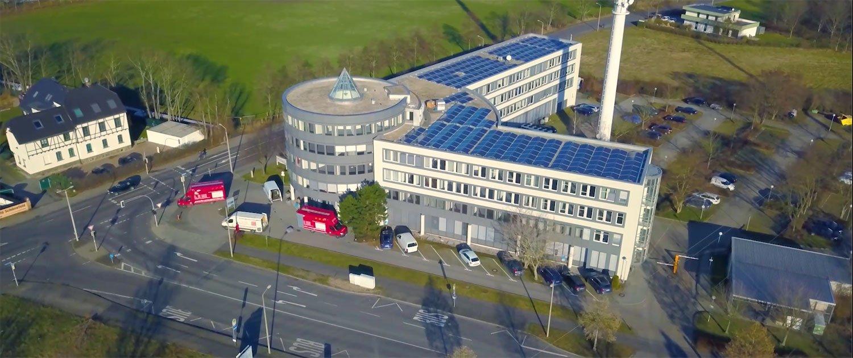 Solaranlage auf Leipziger Bürogebäude