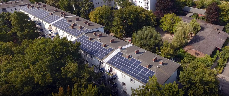 Blick von oben: Solaranlagen in Berlin