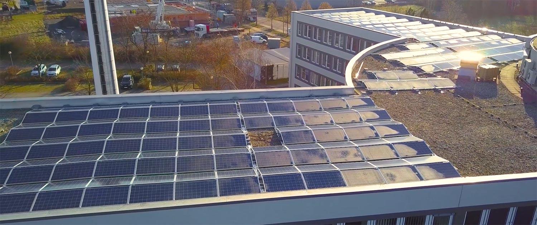 Solaranlage auf Hausdach in Leipzig