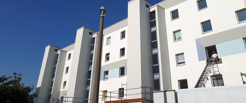 großer Wohnkomplex Schwarzheide