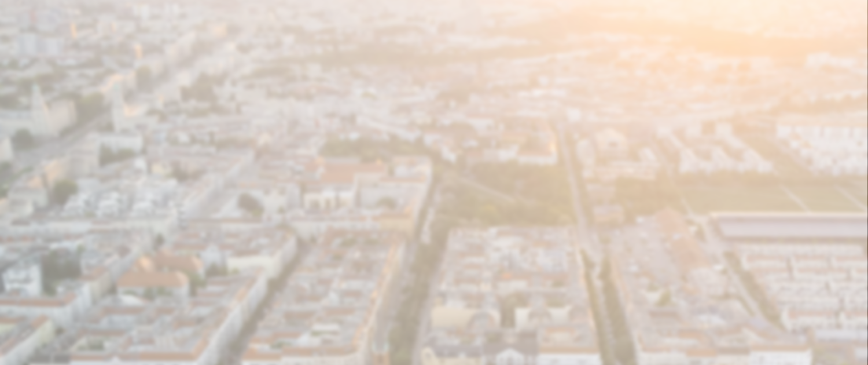 Vogelsicht Stadt mit Sonnenuntergang