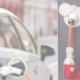 Elektroauto an einer Ladestation im öffentlichen Raum