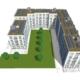 Digitaler Entwurf einer Mehrfamilienhaussiedlung mit PV-Anlagen