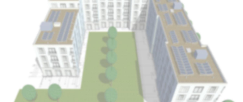 Bauplan einer Neubau-Immobilie mit PV-Anlage