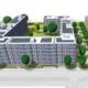 Animierter Plan einer PV-Anlage auf dem Dolgensee-Center