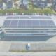 Solaranlage auf Liegenschaft von oben